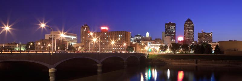 Des Moines at Twilight